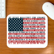 Occupy Wall Street Core demands mouse pad